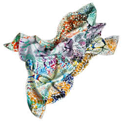 Charles Worthington x Jane Carr Viper Foulard (Vibe) silk scarf, £125