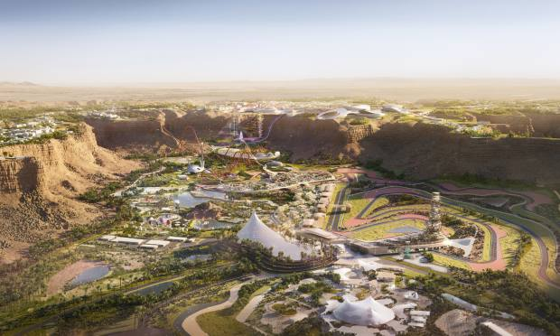 Plans for Entertainment City Qiddiya, which is set to open in 2022 as part of Vision 2030
