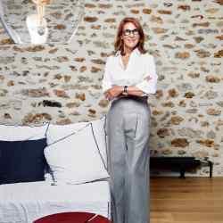 Christine Nagel at home in Paris