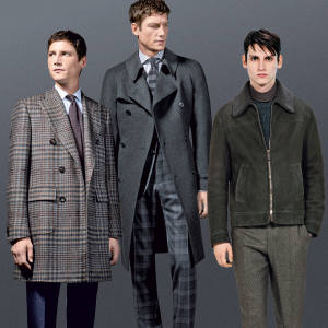 Brioni cashmere coat, £5,900, wool rollneck, £1,200, and mink scarf, £2,900