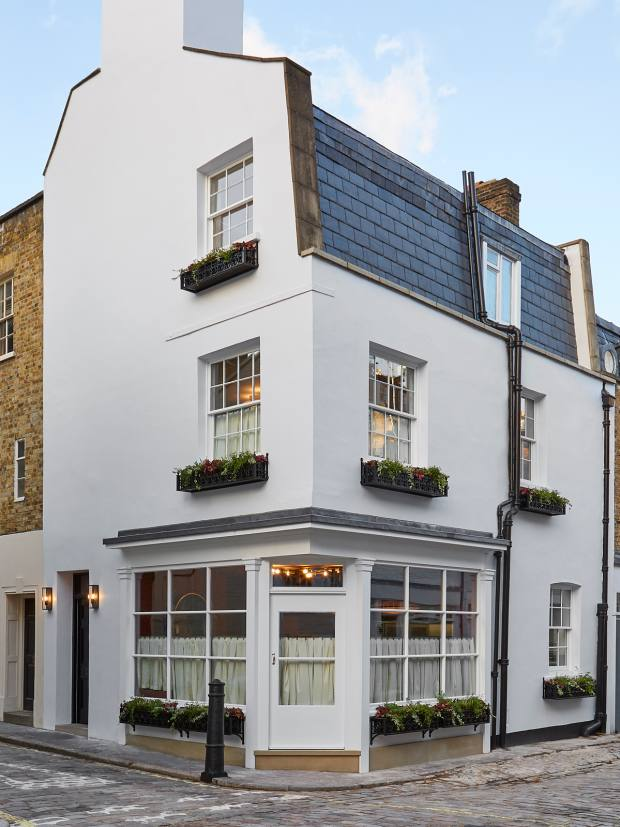 The restaurant resides in a converted mews house in a chic corner of Belgravia