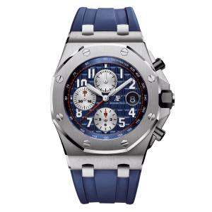 Audemars Piguet Royal Oak Offshore chronograph in steel on rubber strap, £18,700