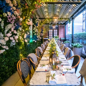 The Bloomsbury Hotel's Dalloway Terrace is the setting for the al fresco celebrations