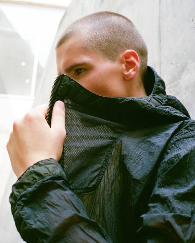 Nemen nylon Filter Hooded Smock jacket, £470