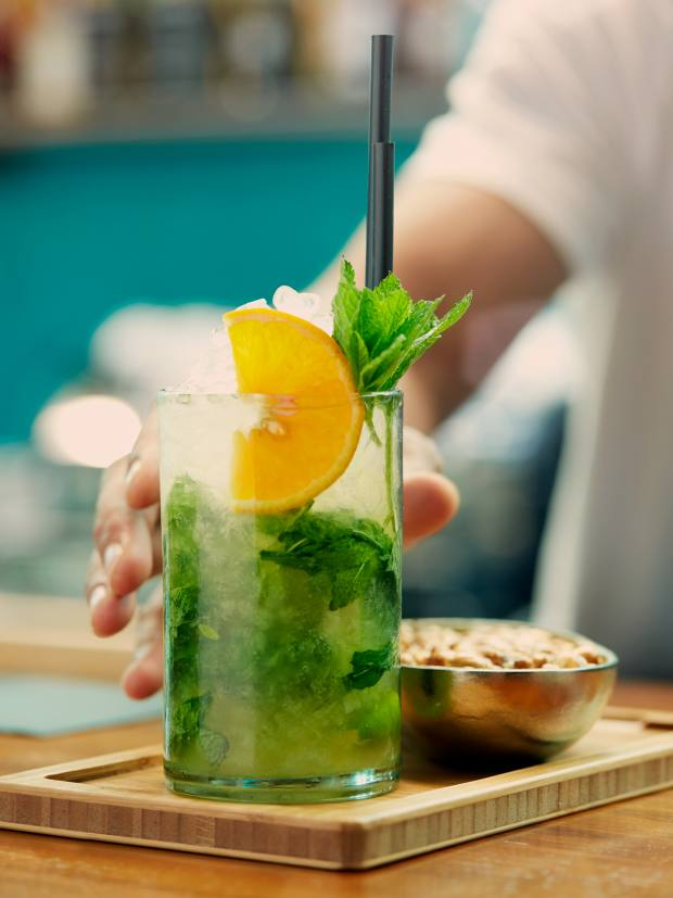The lime-infused Alma Mojito, about £12