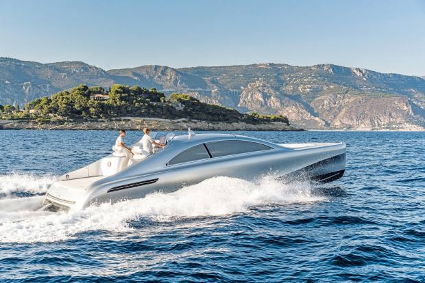 The boat channels the spirit of the Mercedes-Benz S Class Coupé