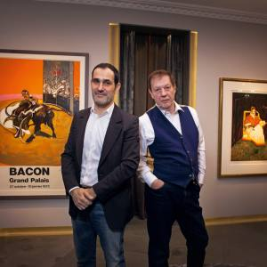 Majid Boustany (left) and Martin Harrison at the Francis Bacon MB Art Foundation