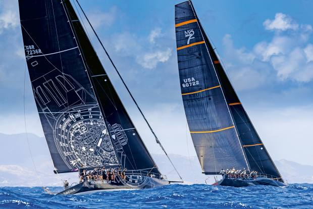 Sorcha (left) and Proteus fight it out at this year's Voiles de St Barth