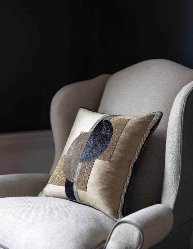 Hand-embroidered Piet cushion, from £1,750