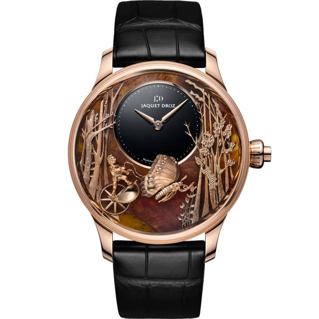 Jaquet Droz red-gold Butterfly Automaton Chinchilla Red, £109,450