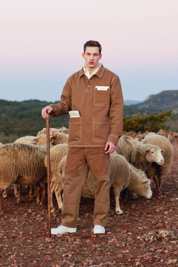 Workwear influences run through Jacquemus's autumn/winter 2019 collection