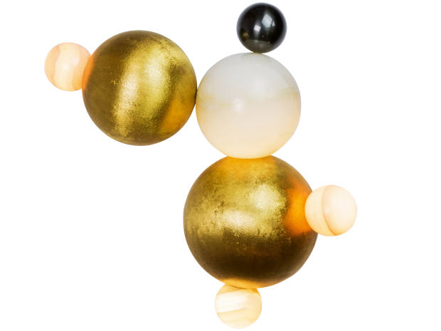 Achille Salvagni gold-plated bronze and onyx Bubbles wall sconce, €26,400, inspired by Jeff Koons