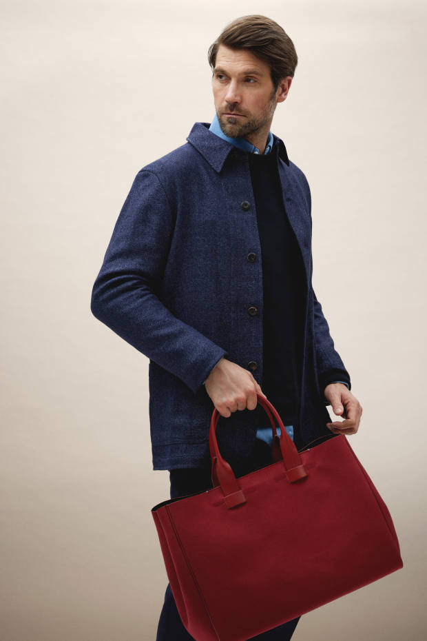 The limited edition tote, £245, comes in six colours – only 25 of each will be made