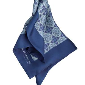 Oliver Sweeney x Timur Kim Asino pocket square (33cm square) in silk, £45. Also in other colours