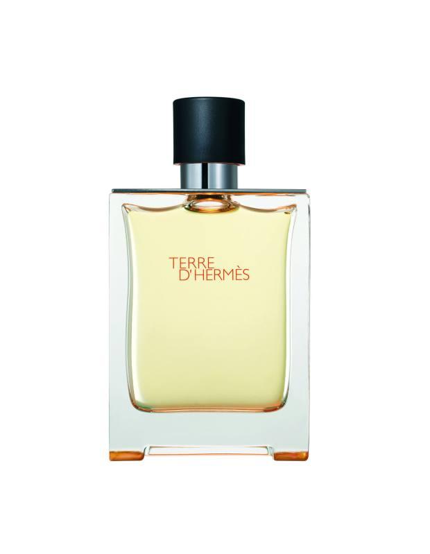 Signature scent Terre d'Hermès.