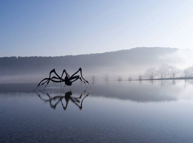 Crouching Spider, 2003, by Louise Bourgeois at Château La Coste