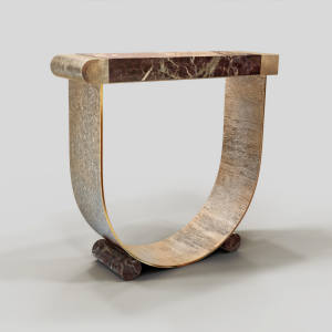Marble-topped and 24ct-gold-plated-bronze Diomede console table (edition of six), €64,800