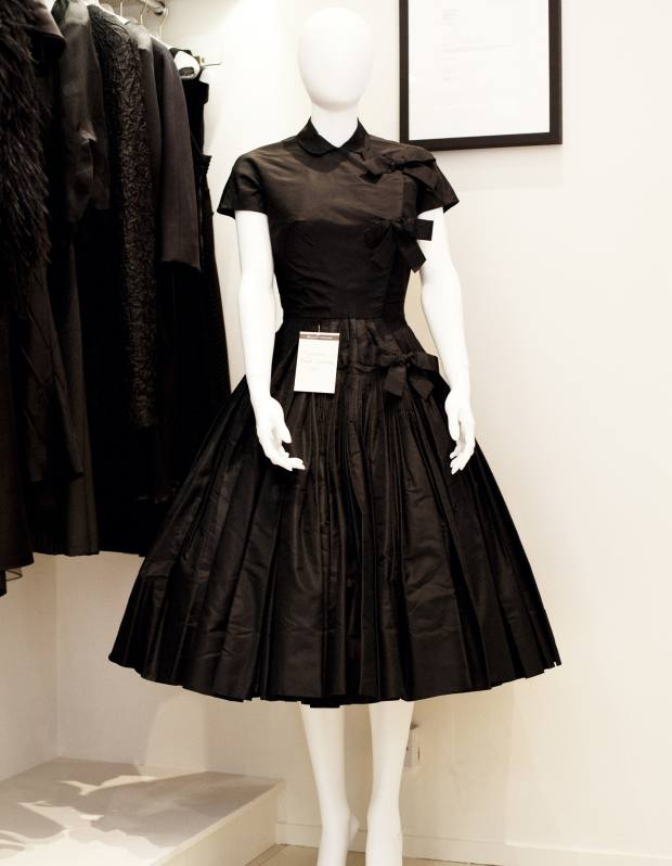 James Galanos silk dress, 1951