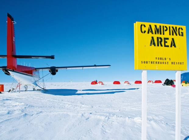 Adventure Network International's South Pole camp
