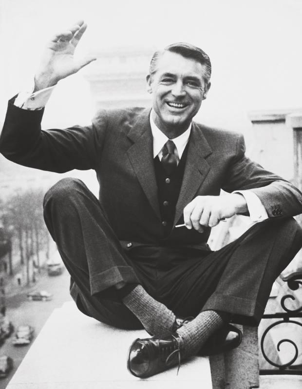 Cary Grant in Paris in 1956
