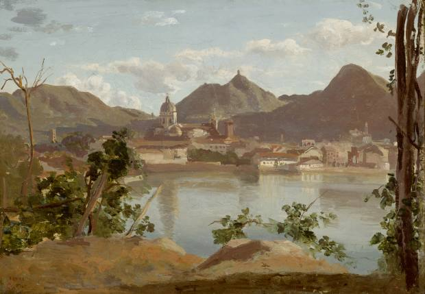 Jean-Baptiste-Camille Corot's La Ville et le Lac de Côme, $1.5m, which is part of the Inspired by Chatsworth collection