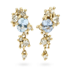 Ruth Tomlinson antique diamond, sapphire and gold earrings, £13,850
