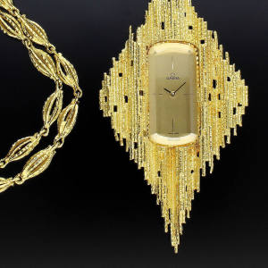c1969 Andrew Grima for Omega Harvest pendant watch, £32,000 at Somlo Antiques