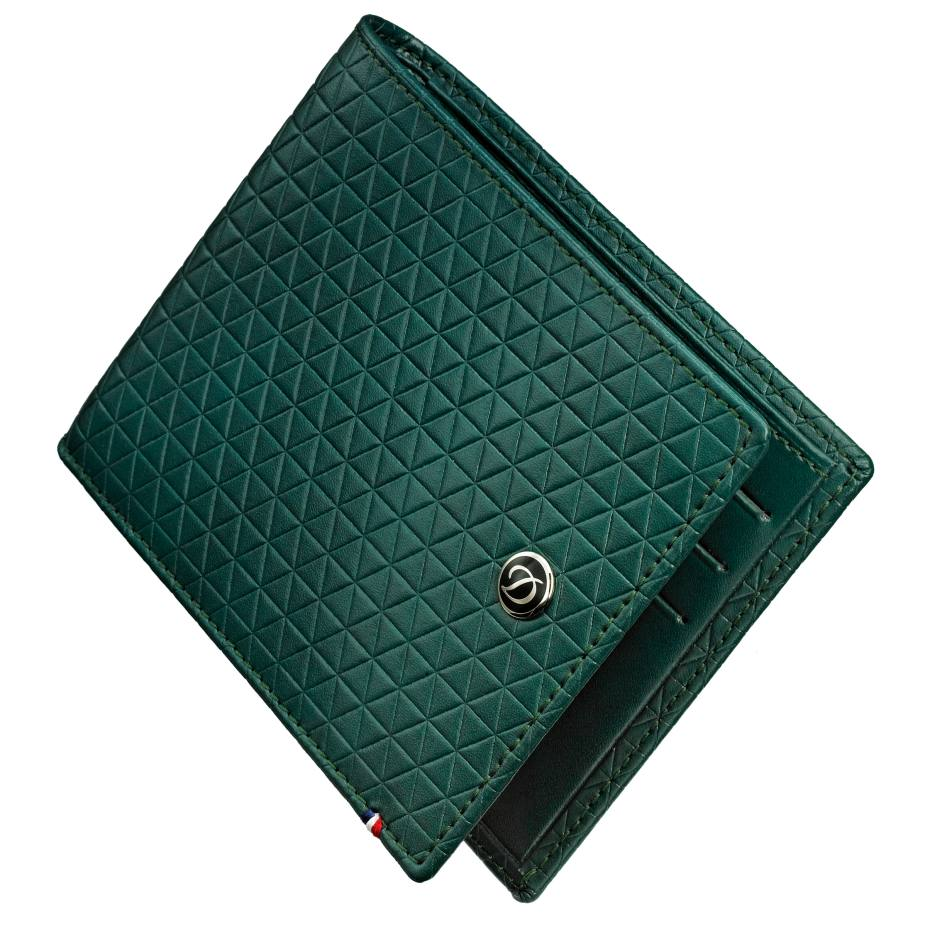 ST Dupont Fire Head card holder £195. Also in other colours