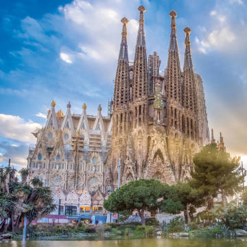 The gothic beauty of Gaudí's La Sagrada Familia, in central Barcelona, where Mandarin Oriental is unveiling its first global standalone residences