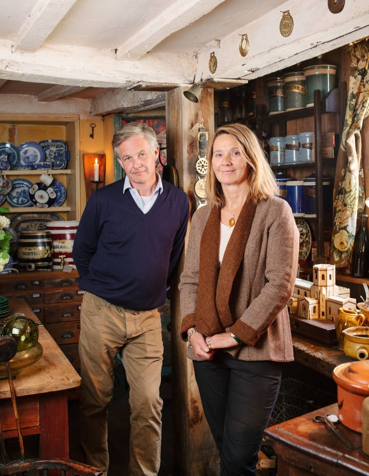 Co-owners Vicky Heaton-Renshaw and John Chapman at Crowman Antiques