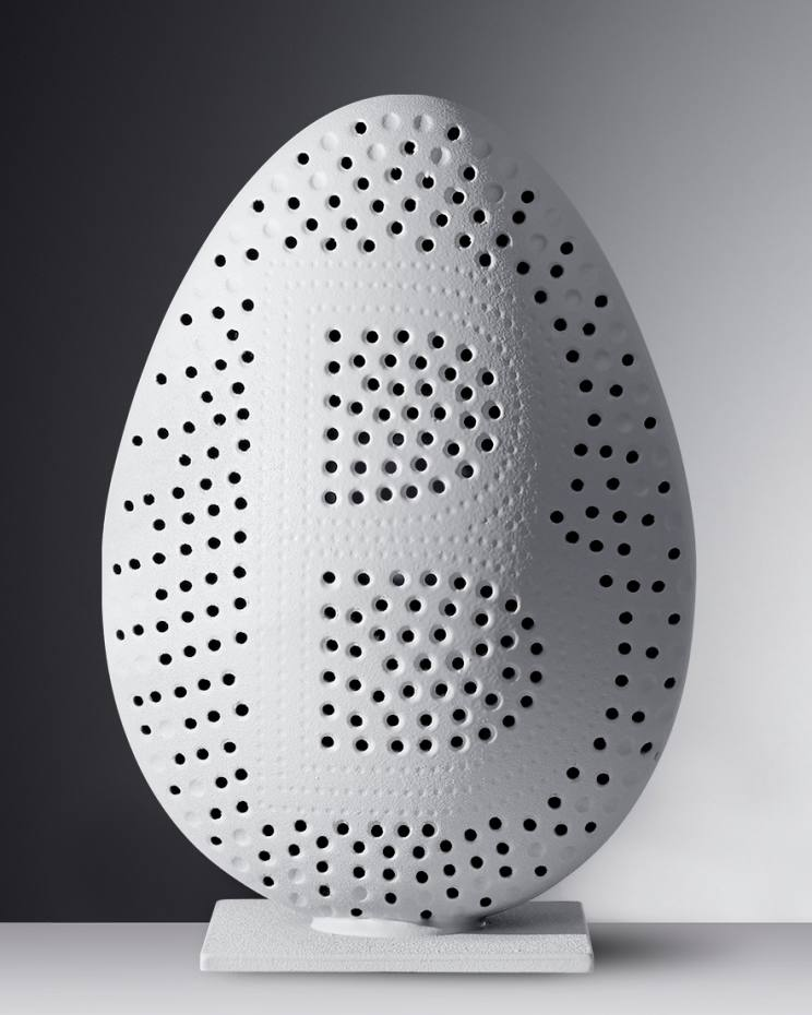Le Bristol Paris' limited edition egg, coated in white cocoa butter, €110