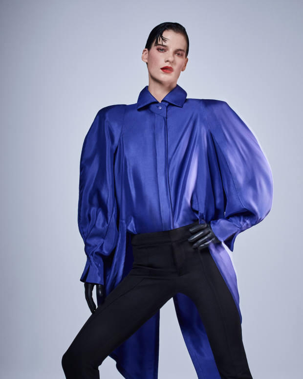 Byronesque structured-shoulder silk Montana blouse, £1,495 at Farfetch