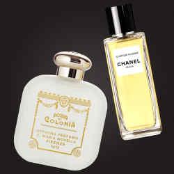 From left: Santa Maria Novella Nostalgia, €100 for 100ml EDC. Chanel Cuir de Russie, £155 for 75ml EDP