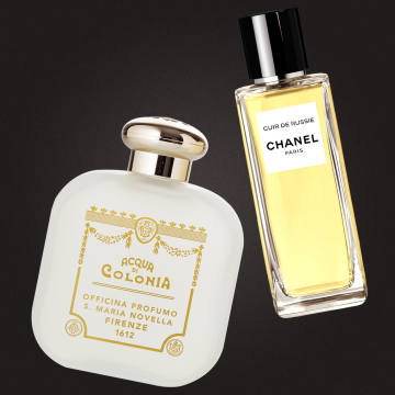 From left: Santa Maria Novella Nostalgia, €100 for 100ml EDC. Chanel Cuir de Russie, £155 for 75ml EDP