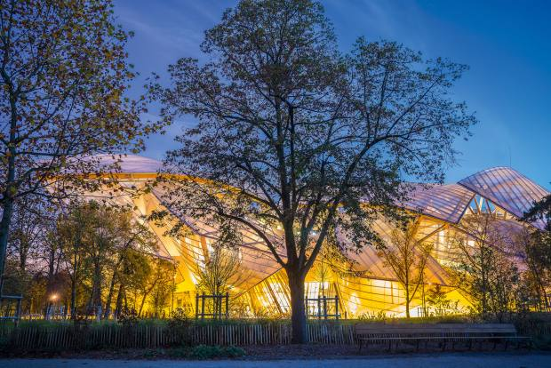 Fondation Louis Vuitton in the Bois de Boulogne, Paris