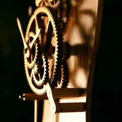 David Bowerman tiger oak Standing Clock, £10,800
