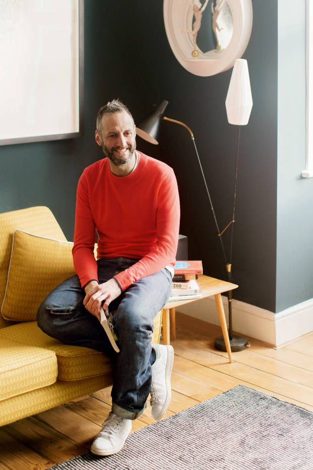 Barnaby Barford at home in London