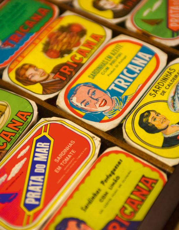 Examples of the colourful sardine tins that Louboutin collects for his kitchen