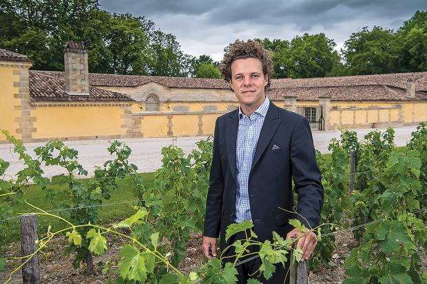 Thibault Pontallier, Château Margaux ambassador and son of the late winemaker, in the vineyard