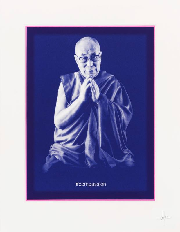 Profits from sales of artist Chris Levine's screenprint of the Dalai Lama will go to anti-poverty charity The Trussell Trust