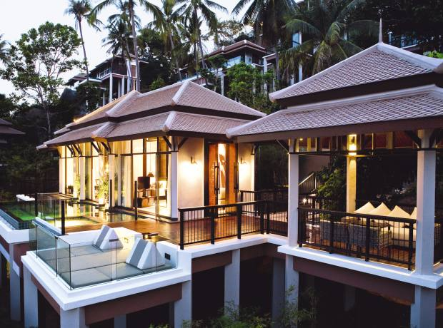 A pool villa at Banyan Tree Samui.