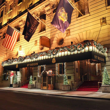 The grand entrance of The St Regis New York