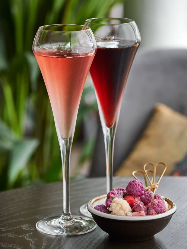 The bar's menu features some 50 sparkling wines