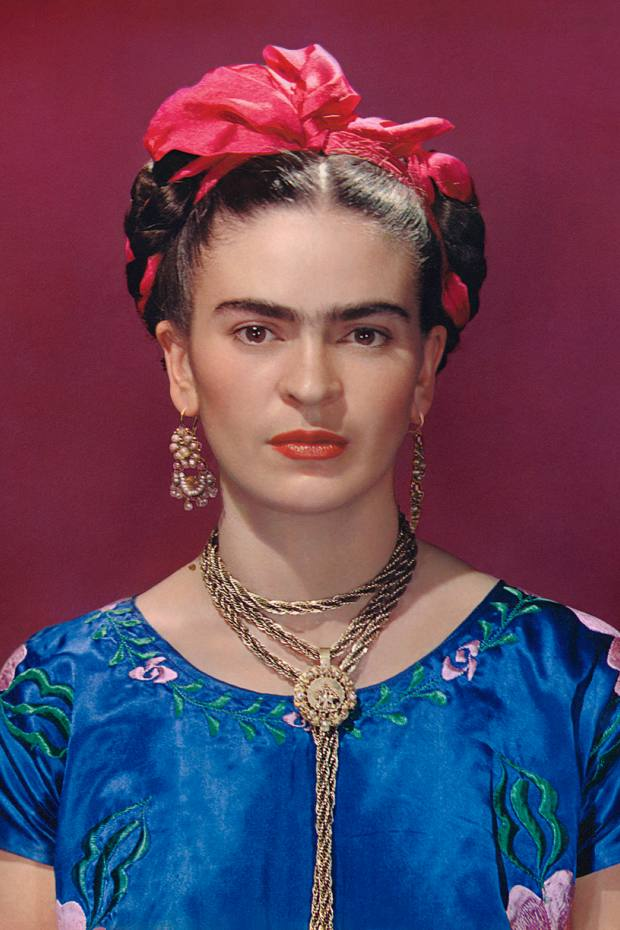 Frida Kahlo in a satin blouse, 1939