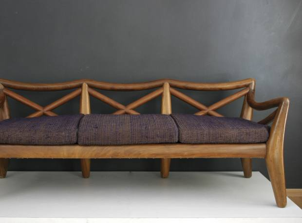 Clara Porset's iconic 1959 Sala Totonaca sofa, recently sold by