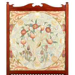 Mahogany-framed embroidered Apple Tree fire screen by William Morris for Morris & Co, c1880, £800-£1,200