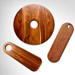 On Our Table Baguette slab, $140, Pico, $150-$190, and Culina, $170, cutting boards