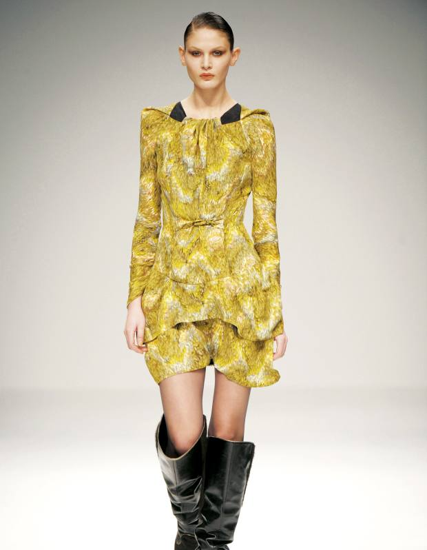 Peter Pilotto's silk georgette tie dress, £1,200, from A La Mode. See main text for stockists.