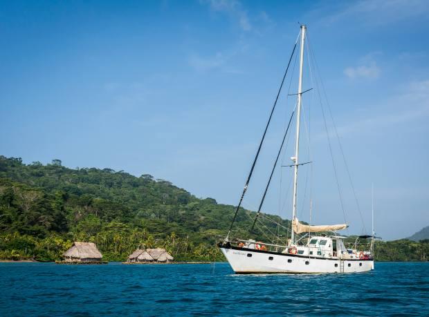Sailing off Puerto Escocés, Panama