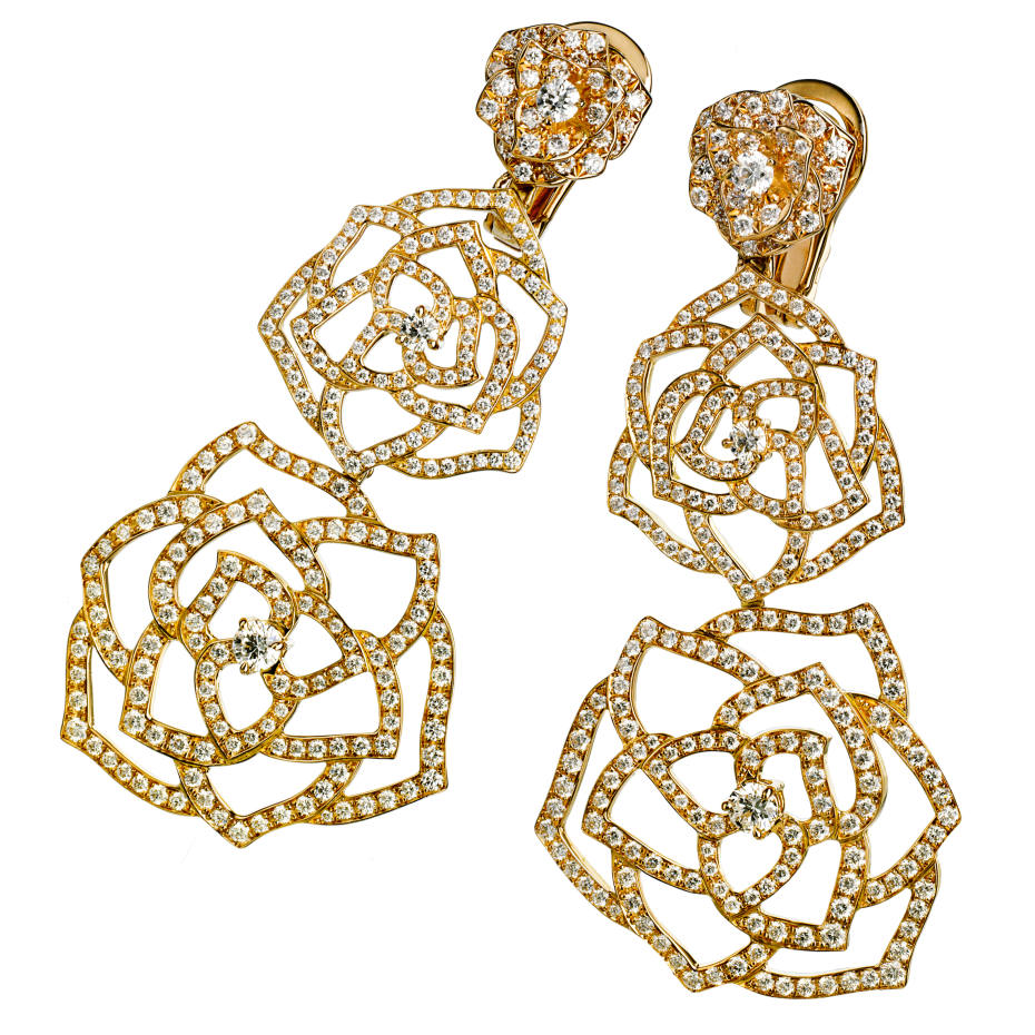 01aeb0d462 Piaget Rose Dentelle earrings | How To Spend It